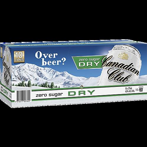 Canadian Club Zero Dry 10pk Cans