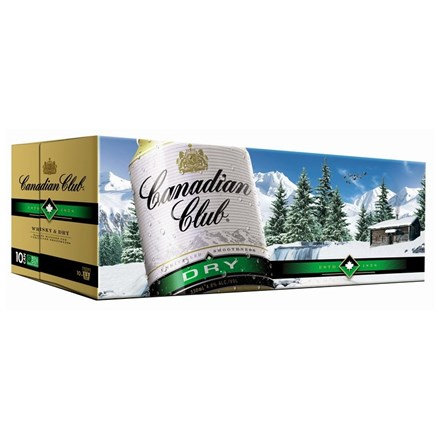 CANADIAN CLUB DRY 10 PK CANS