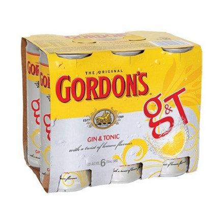 GORDON 6PK CANS 250ML