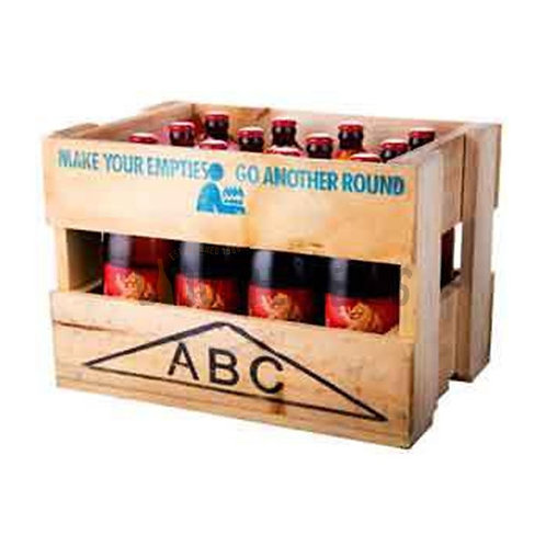 Lion Red Crate (includes $7 empty ABC crate)