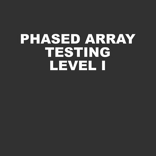 Phased Array Testing Level I - 40 hours