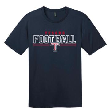 Navy Titan Football Tee Shirt