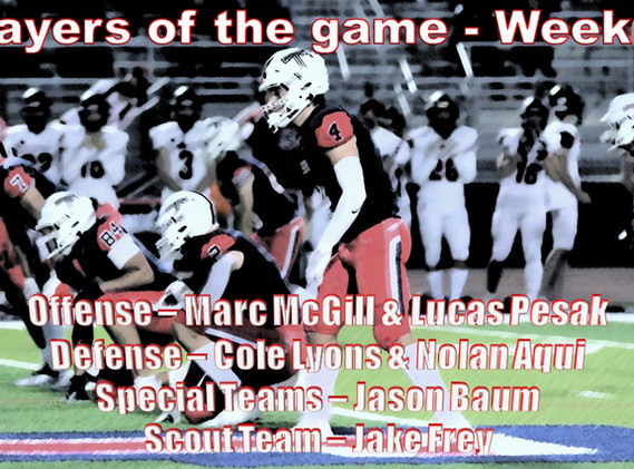 Week 4 Players of the game