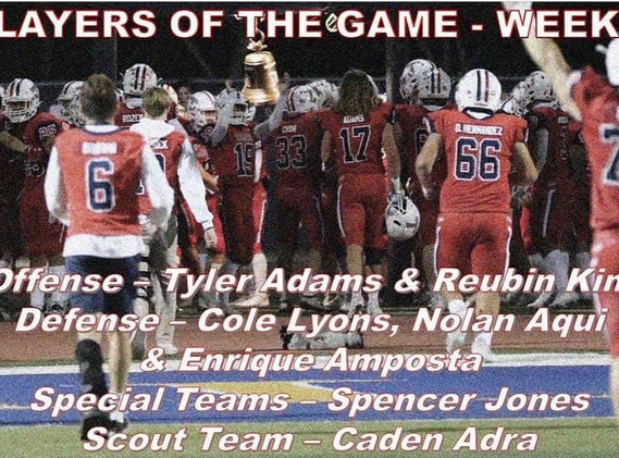 Week 5 Players of the game
