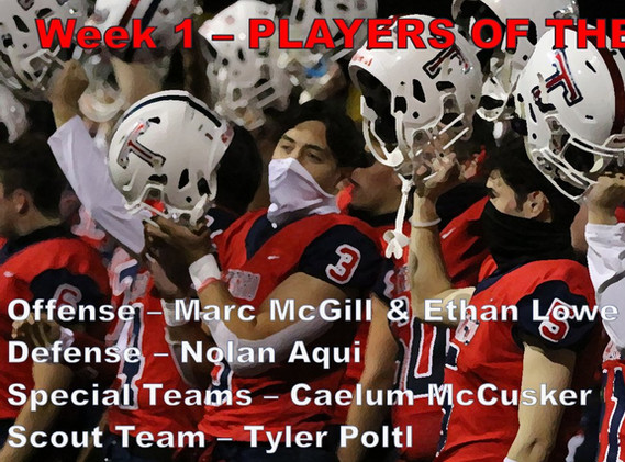 Week 1 Players of the game