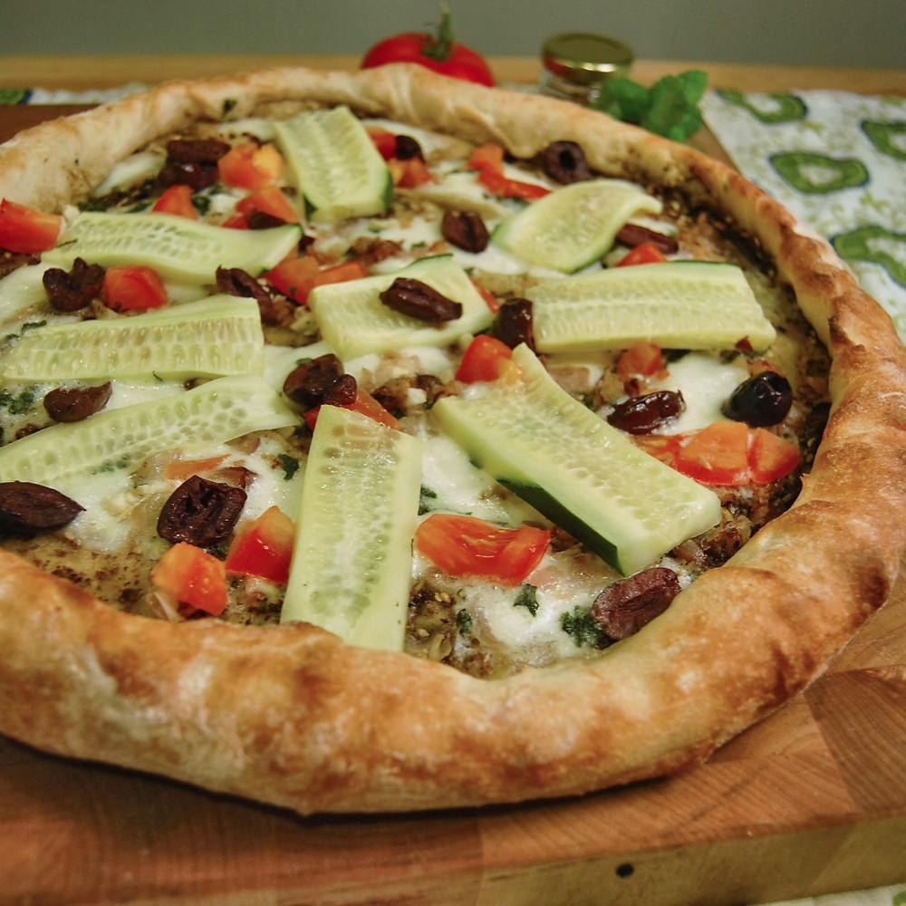 Middle Eastern za'atar pizza
