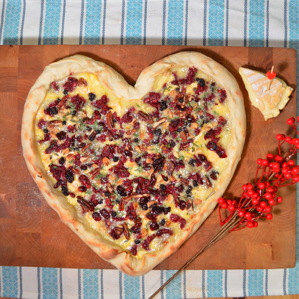 Valentine's Day Baked Brie Pizza