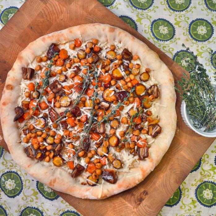 Whiskey-Glazed Carrots, Dates & Thyme