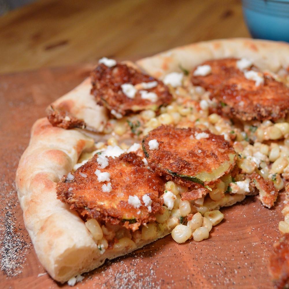 Jerk Plantain & Pomegranate BBQ Pizza