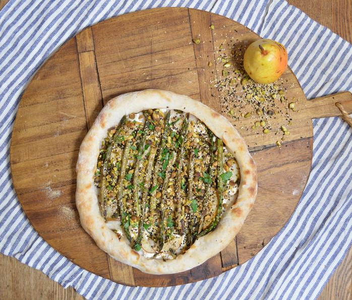 Asparagus, Ramps & Pistachio Dukkah