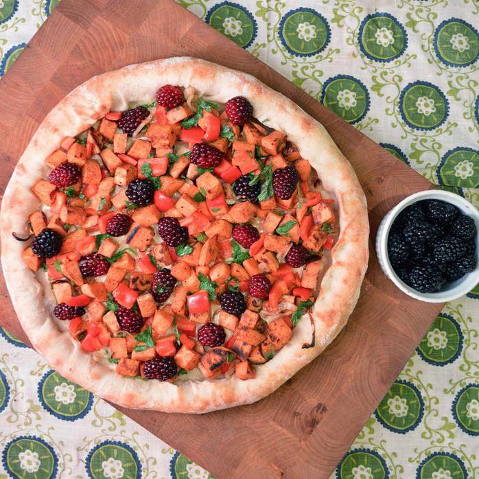 Blackberries, Sweet Potatoes & Brie