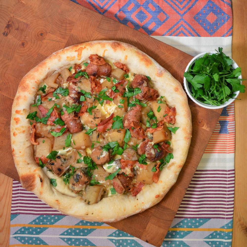 St. Paddy's Dublin coddle pizza