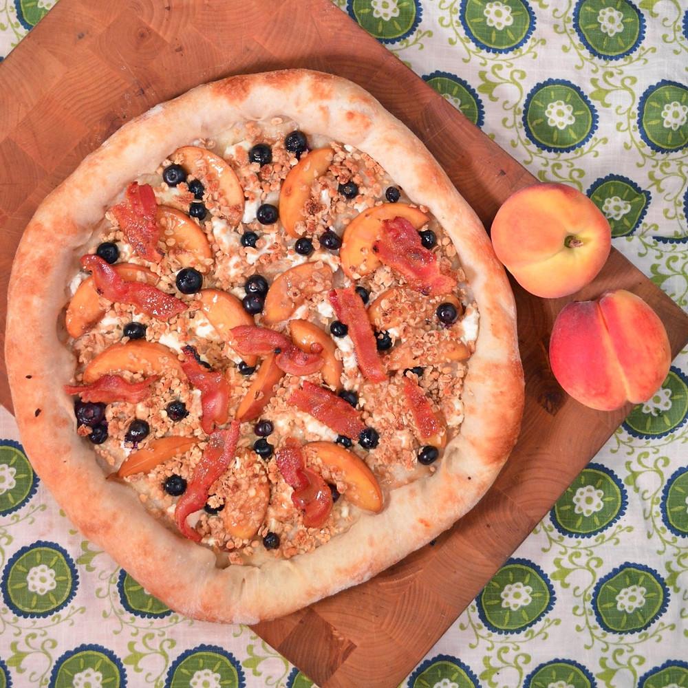 Balanced breakfast pizza