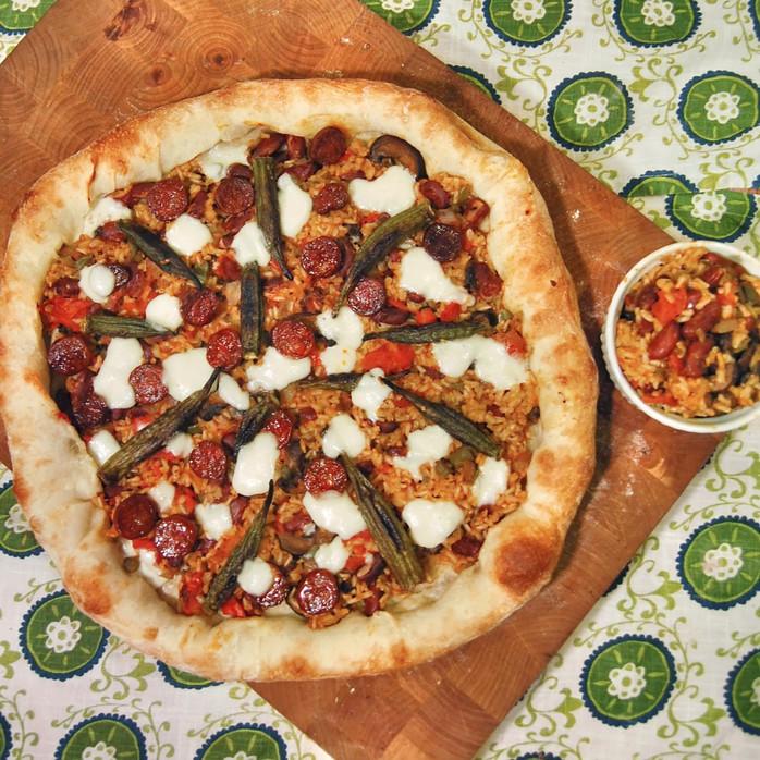 Mardi Gras Jambalaya Pizza