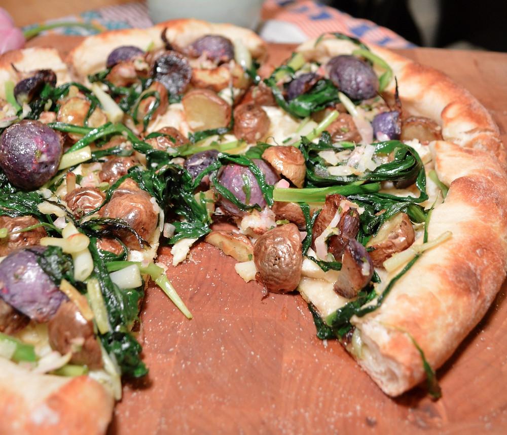 Ramp, radish & potato pizza