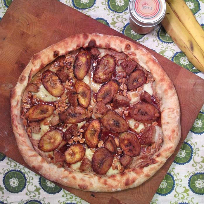 PB&J Sandwich Pizza