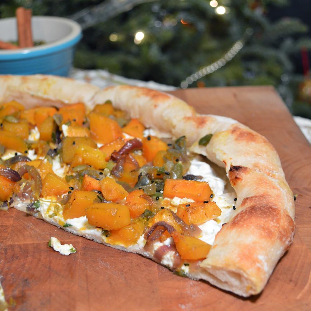 Butternut squash & cardamom pizza