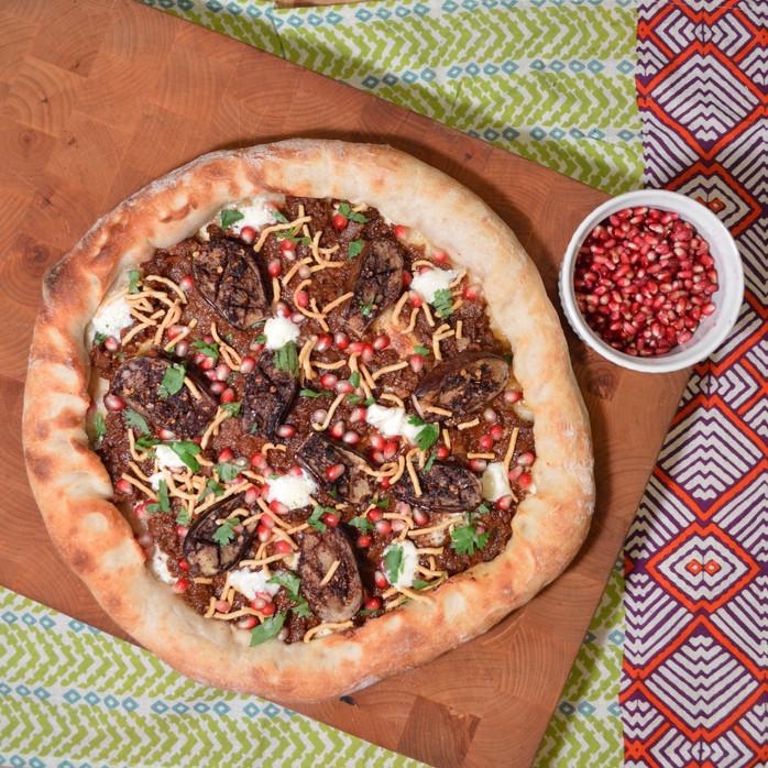 Eggplant Fesenjan Pizza