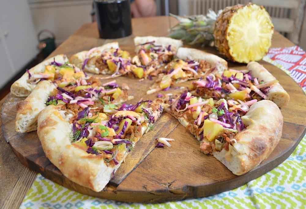 Pesto, Potato & Burrata Pizza