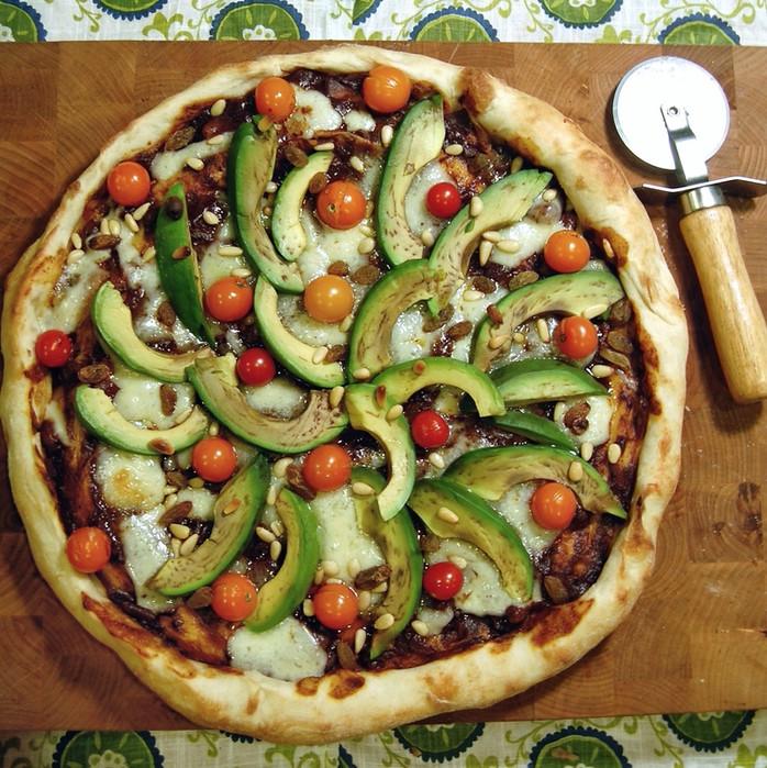 Mango Mole Mexican Pizza