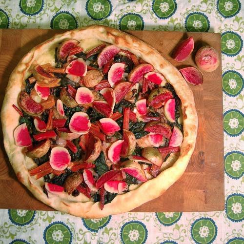 Watermelon Radish & Swiss Chard