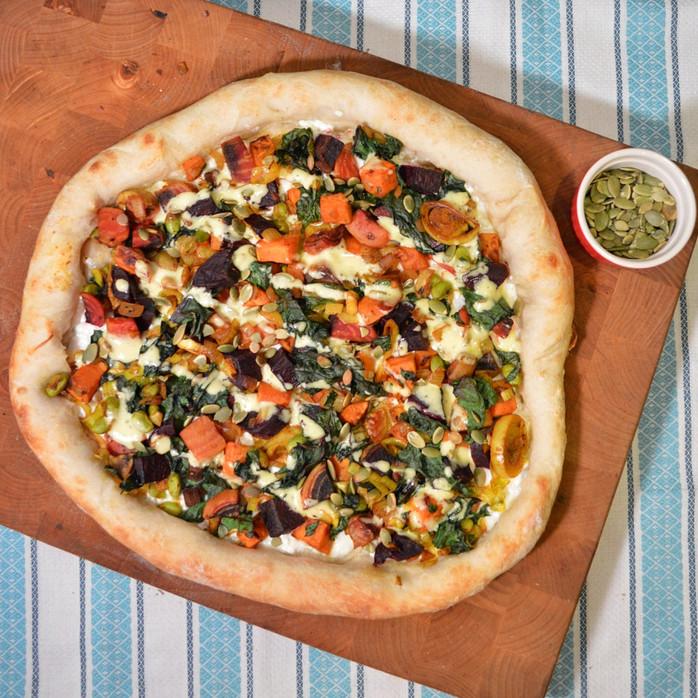 Sweet Potato & Beet Hash Pizza