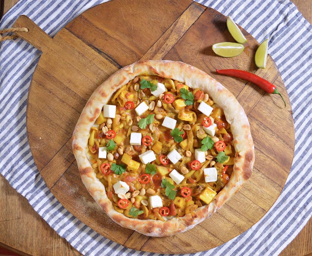 Mushroom Curry Pizza
