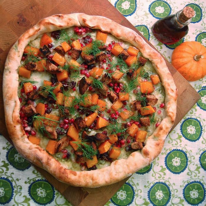 Caramelized Butternut Squash & Pomegranate Salsa