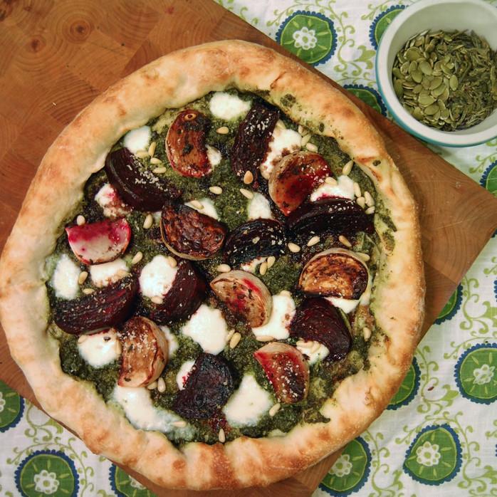 Green Tea Pesto & Roasted Root Vegetables