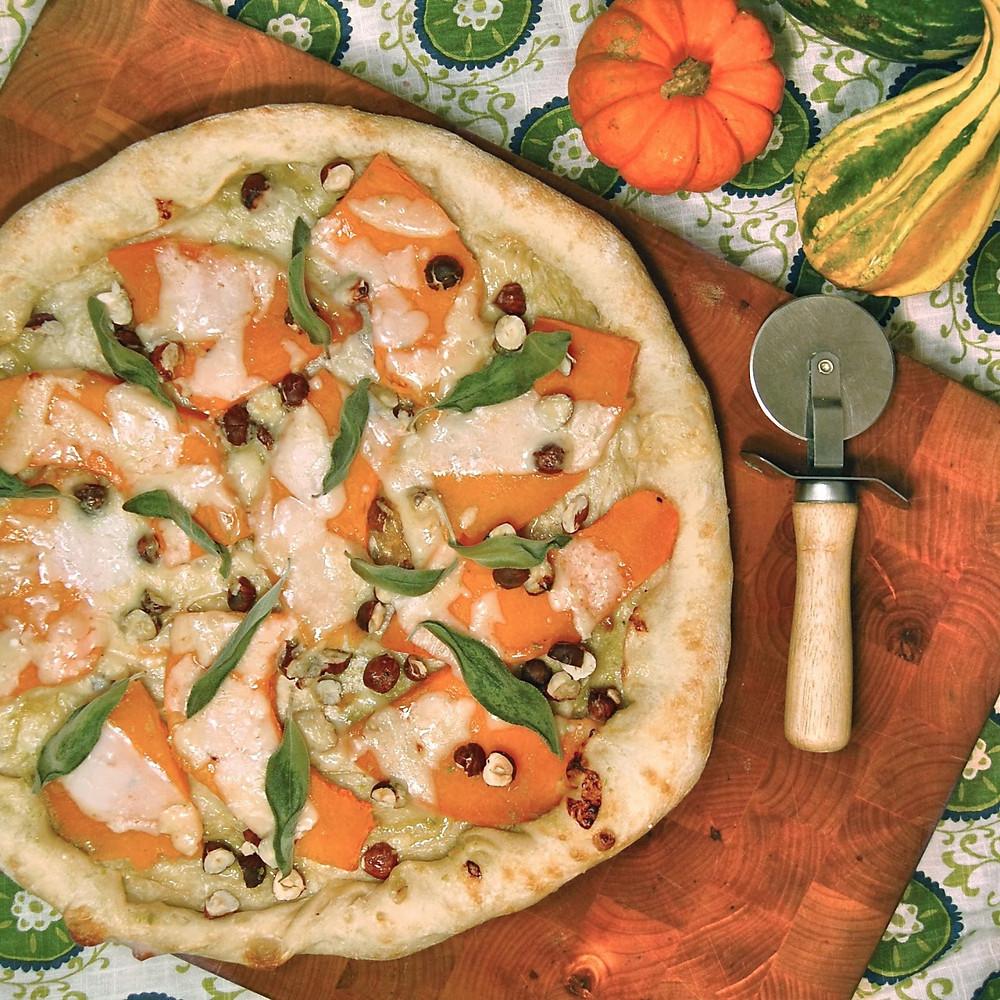 Roasted fairytale pumpkin & sage pizza