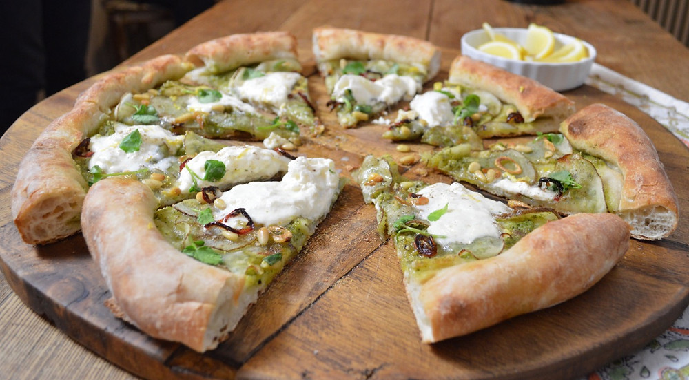 Pesto, Potato & Burrata Pizza