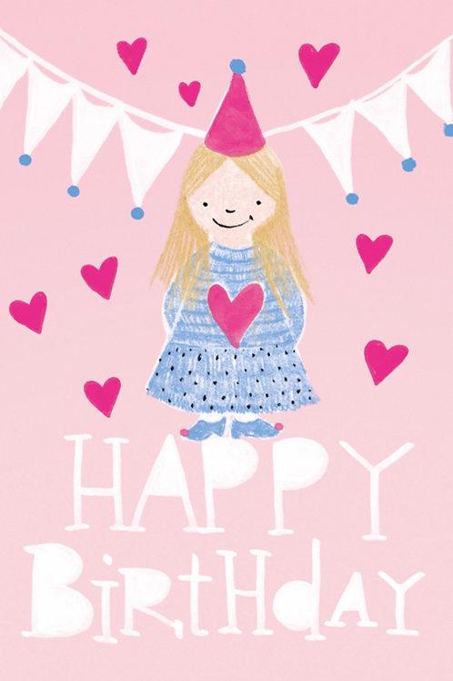 Grusskarte happy birthday princess
