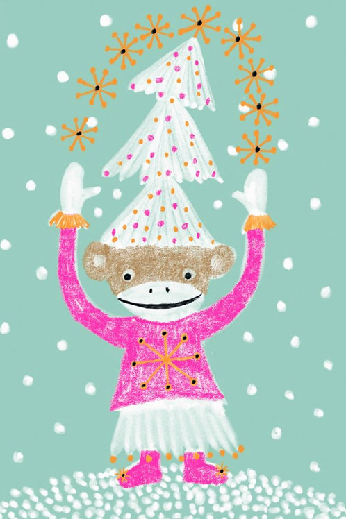 Grusskarte happy & merry xmas