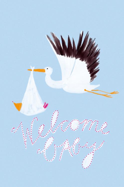 Grusskarte welcome baby