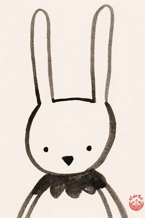 Grusskarte funny bunny