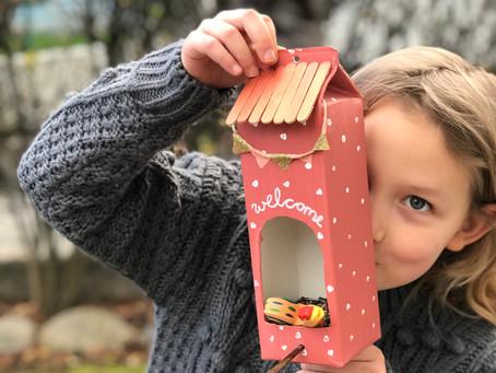 welcome kleiner Vogel - aus Milchtüten ein Vogelhaus basteln