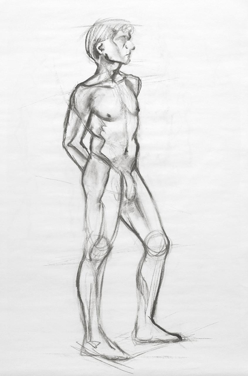 Life Drawing Standing Pose C