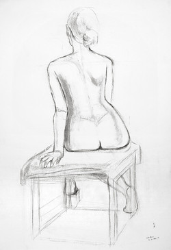 Life Drawing Sitting Pose A