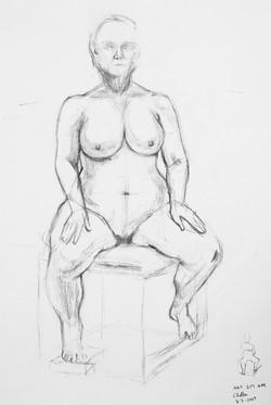 Life Drawing Sitting Pose B