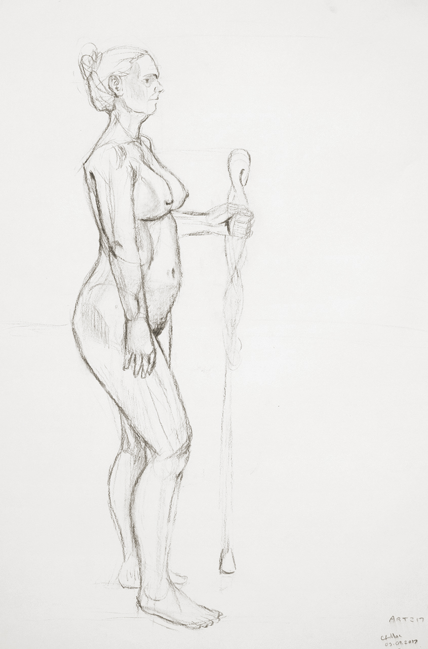 Life Drawing Standing Pose D