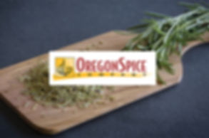 OregonSpice logo over cutting board