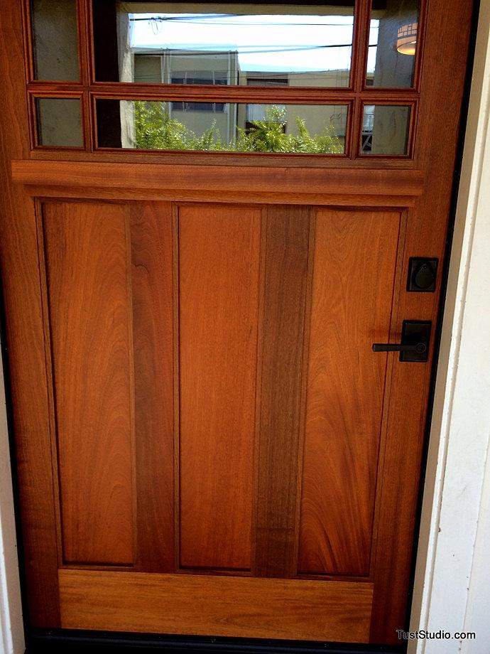 Installed Door & TUST STUDIO|CUSTOM STAINING|SAN FRANCISCO