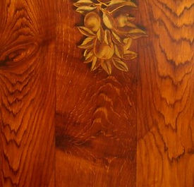 sample section of hand painted faux oak woodgrain finish