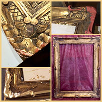 restoration of a damaged gilded gold leaf frame to match the original finish