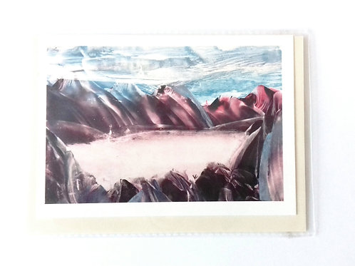 Heart of the Glacier: Print Greetings Card