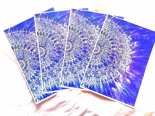 Air Half-Mandala: A4 Print of Original Encaustic Wax Painting