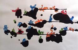 ink blob structures