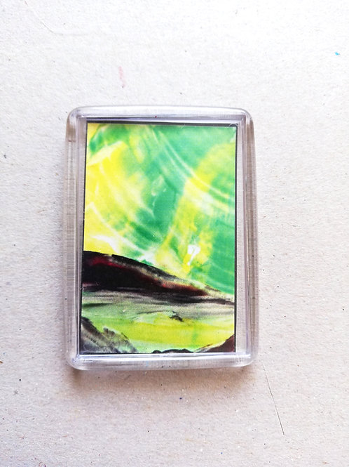Green Aurora: Fridge magnet
