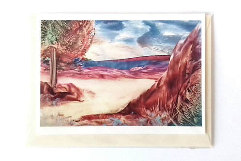 Autumn Flood:  Print Greetings Card