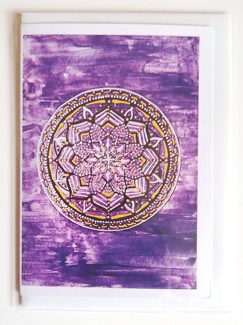 Air Mandala: Print Greetings Card